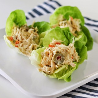 Olive & Chicken Salad Lettuce Wraps