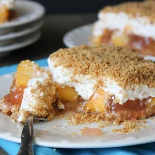 Fresh Peach Dessert (baked crust)