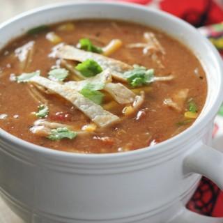 Light Creamy Chicken Tortilla Soup