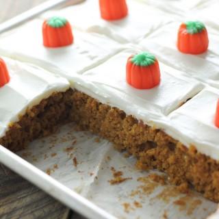 Pumpkin Sheet Cake Bars