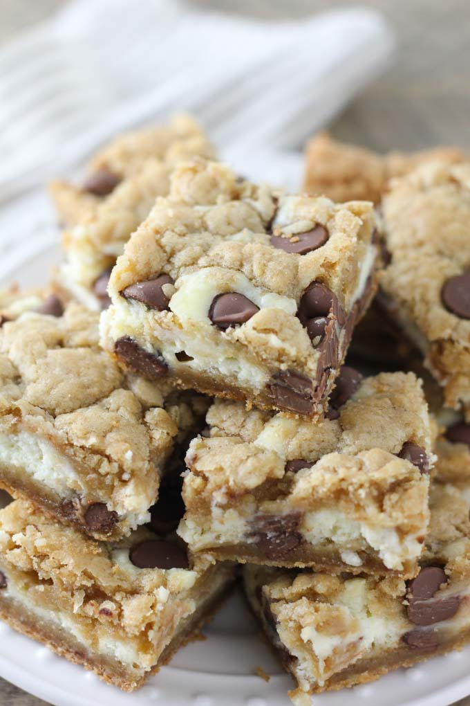 Chocolate Chip Cookies With Cream Cheese Bars