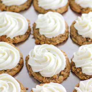 Frosted Soft Oatmeal Cookies