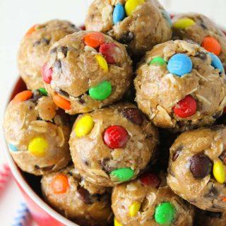 Healthy Monster Cookie Granola Bites
