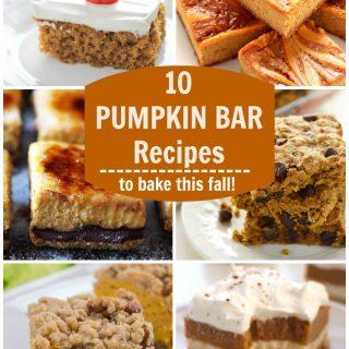 10 Pumpkin Bar Recipes (Round-Up)